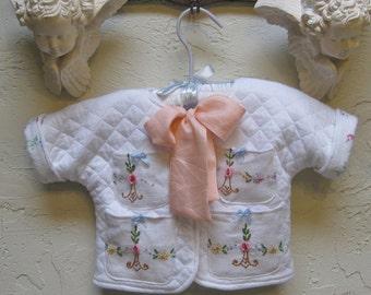 Infant Newborn Baby Jacket Vintage Embroiderery