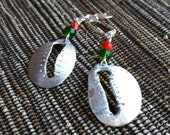 Silver Cowrie Shell Earrings