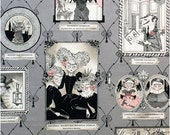 The Ghastlie Gallery in Smoke - By Alexander Henry  100% Quilters Cotton Available in Yards, Half Yards and Fat Quarters