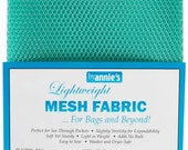Mesh fabric Light Lite Weight--18 inch x 54 inch Pocket Mesh Turquoise Teal