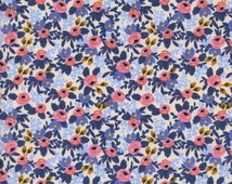 PRESALE - Rosa Periwinkle  - Les Fleurs - Anna Bond Rifle Paper Co - Cotton + Steel - 8004-03