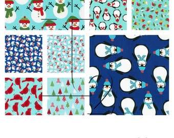 Jingle Four 4 Winter COMPLETE Collection - 42 piece 5 Inch Charm Square Charm Pack Bundle - Ann Kelle Robert Kaufman Fabric