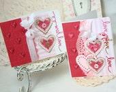With Love Shabby Chic Handmade Card Set