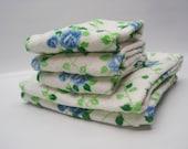 Blue rose towel set