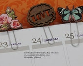 Vintage chic planner clips