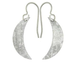 Meteorite Moon Earrings