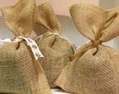 Natural Jute Lavender Sachet Bags    -  One Lavender Sachet   -   Two Ounce Dried Fragrant Lavender Sachet