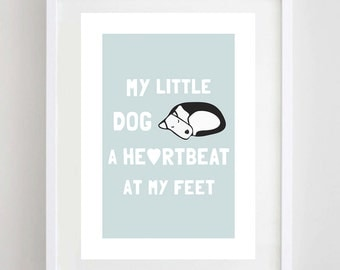 My Little Dog Print - Terrier Print - Dog Print - Dog Art - Terrier Art - Dog Quote - Dog Illustration - Wall Art