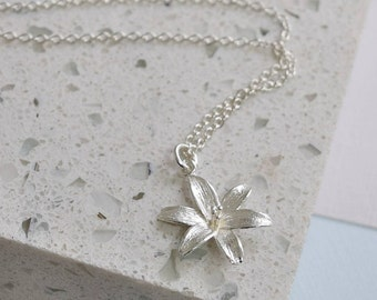Sterling Silver Lily Necklace