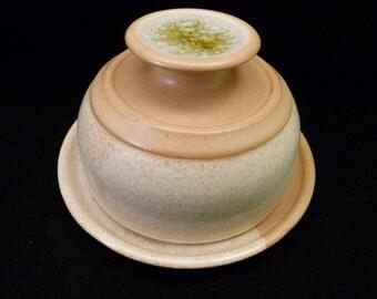 WheelWorksPottery - Butter Dish - Lidded - Butterscotch