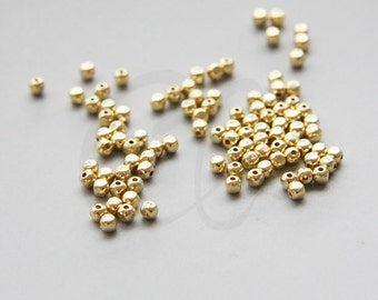 100pcs Gold Plated Brass Cut Square Spacer- 2x2.4mm (3028C-R-317)