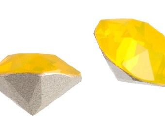 4 Pieces Swarovski 1088 Xirius Round Pointed Back Rhinestones-Foiled Yellow Opal SS39 (SW67037)