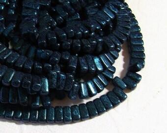 CzechMates Brick Beads 2 Hole, 3x6mm, Van Gogh Zircon - one string of 50 beads