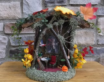 Fairy House Witch House  with LED lights