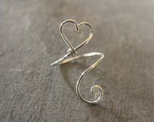 ADJUSTABLE, Heart Ring, ALL SIZES, Sterling Silver, Mother, Daughter, Sister, Friend, Love, Valentine, Valentine's Day