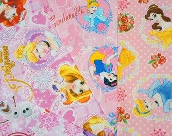 Disney licensed fabric  scrap  Disney Princess Disney Frozen Queen Elsa and Princess Anna print 2016A