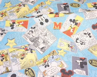 Disney licensed fabric Disney Cartoon Mickey Mouse  Print Japanese fabric 50 x 106  cm or 19.7 x 42 inches