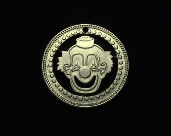Clown Game Token Cut Coin Pendant - Vintage - RARE