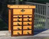 Quilted Maple and Tropical Walnut Tower Chest