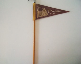 Vintage Royal Gorge Pennant Souvenir Pencil
