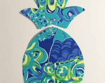 New Made To Order custom Pineapple Pillow made with Lilly Pulitzer Lillys Lagoon fabric