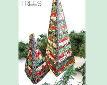 PATTERN Triangle CHRISTMAS TREES set of 2 to make