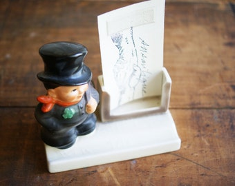 Goebel Chimney Sweep Desk Stand | Business Card Display | Pen Holder