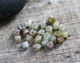 ONE 3mm Rough Diamond Cube Beads