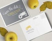 Rustic Farm Wedding Save the Date Postcard