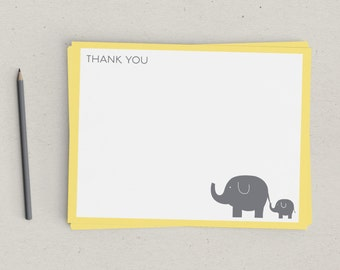 Baby Elephant Thank You Notes