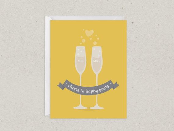 Cheers Wedding Card