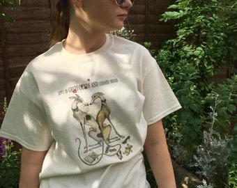 Greyhound T-Shirt by Elle J. Wilson