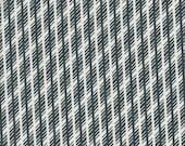 Free Spirit Fabrics Denyse Schmidt Florence Jagged Stripe in Malachite - Half Yard