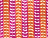 Robert Kaufman Mingle Vine in Orange and Hot Pink - Half Yard