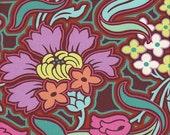 Rowan Amy Butler Soul Blossoms Disco Flower in Chocolate - Half Yard