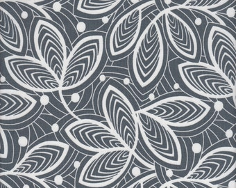 Free Spirit Fabrics Amy Butler Violette Leaf Lines in Mineral - End of Bolt - Last 24 Inches