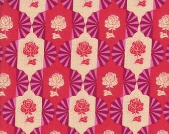 Free Spirit Fabrics Anna Maria Horner Dowry Dresden Bulbs in Rose - Half Yard