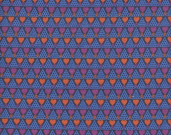 Free Spirit Fabrics Anna Maria Horner KNIT Pretty Potent Family Unit in Royal - Half Yard