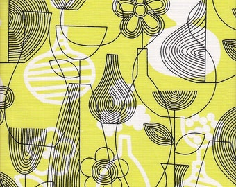 Free Spirit Fabrics Erin McMorris Astrid Lena in Chartreuse - Half Yard