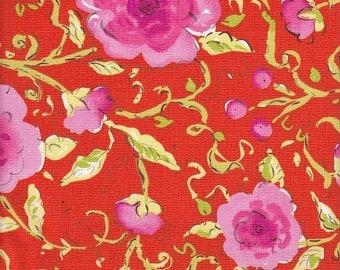 Free Spirit Fabrics Dena Designs Pretty Little Things Sophia in Orange - Half Yard