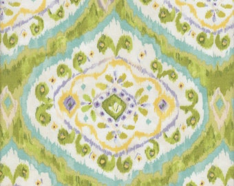 Free Spirit Fabrics Dena Designs Tangier Ikat Medallion in Aqua - Half Yard