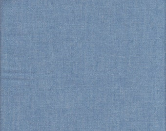 Robert Kaufman Interweave Chambray in Denim - Half Yard