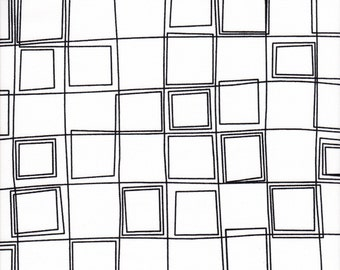 Free Spirit Fabrics Erin McMorris Distrikt Parallels in White - Half Yard