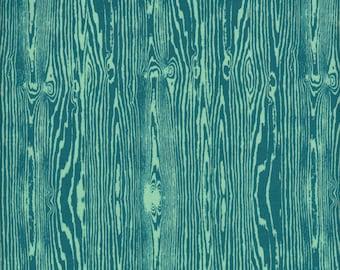 Free Spirit Fabrics Joel Dewberry True Colors Wood Grain in Teal - Half Yard