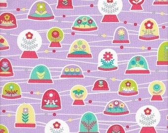 Free Spirit Fabrics Erin McMorris La Dee Da Bubbles in Violet - Half Yard