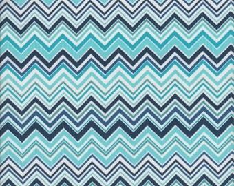 Free Spirit Fabrics Valori Wells Novella Zigzag in Indigo - Half Yard