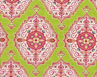 Moda Fabrics Tradewinds Medallions in Lime - Half Yard