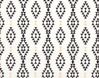 SALE - Moda Fabrics Nomad Aztec in Bone Onyx - End of Bolt - Last 23 Inches