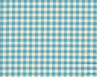 SALE - In The Beginning Fabrics Home To Roost Gingham in Blue - End of Bolt - Last 34 Inches