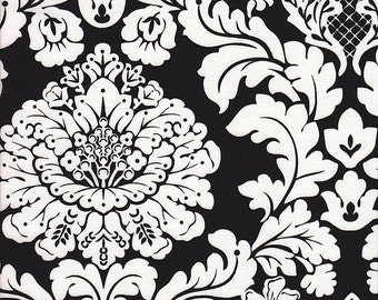 Michael Miller Delovely Damask in Black and White - Half Yard